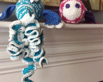 Crochet twisty-tailed fish
