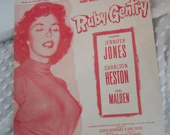 1953 Ruby Gentry Sheet Music