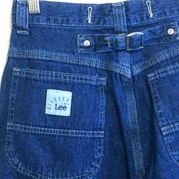"Baggy 90s Jeans, Vintage Lee Jeans, 90s Mom Jeans, High Waisted, Buckles Big Pocket, Denim Trousers, 1990s Wide Leg Jeans, Sz 8 Waist 28"""