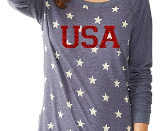 Merica  4th of July  pullover top