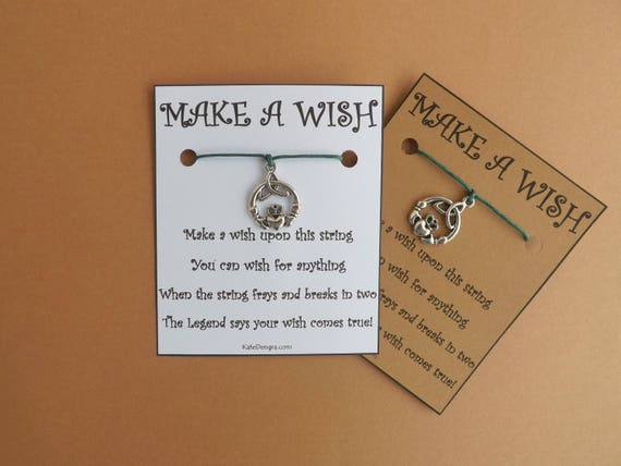 Claddagh Ring Irish Wish Bracelet