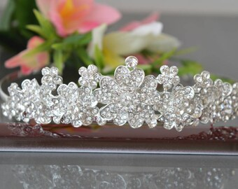 Tiara, Crystal Crown,Bridal Tiara,Swarovski Crystal,Wedding tiara,Crown,Czech stones,royal diadem.