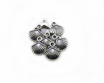 7pcs Shells Charms, Antiqued Shells Charms, Shells Charms, DIY Charms, 15x13mm Shell Charms, Jewelry Making, DIY Supplies