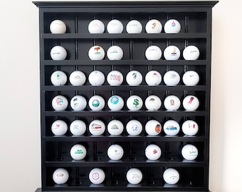 Golf Ball Collection Display Shelf