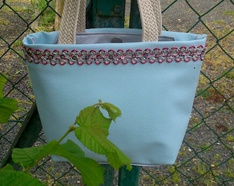 Pale blue handbag