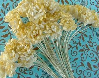 Prima Lemon Yellow Gypso Flowers SA-018-ND-008 scrapbook