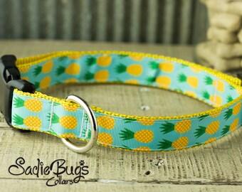 Pineapple dog collar