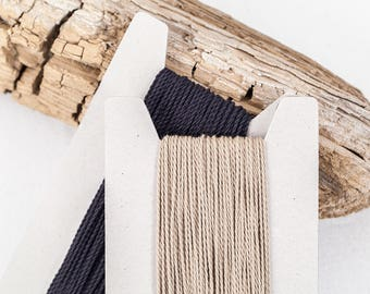 """Natural cotton cord 2mm, """"Graphite"""" collection, 10 meters - 10,9 yards or 32,8 feet, 2 colours available"""
