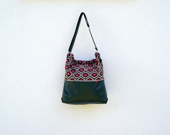 Green & red Hexagon Tote