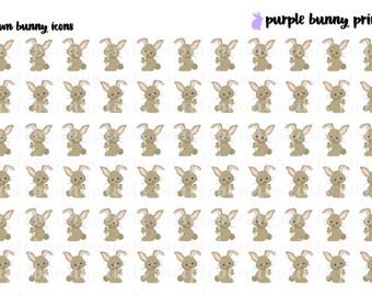 Brown Bunnies // Daisy // Planner Stickers!