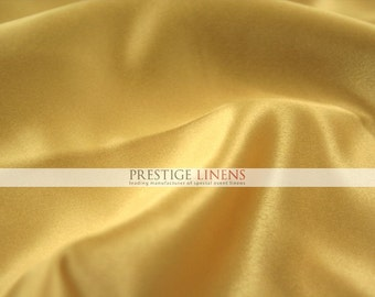 "Lamour Dull Matte Satin Fabric By The Yard - Sun Gold - 60"" Polyester Wedding Dress - Craft - Sewing"