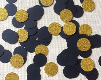 Navy and Gold Glitter Circle Table Confetti, Decor, Party decor, Weddings, Baby Showers, Celebrations