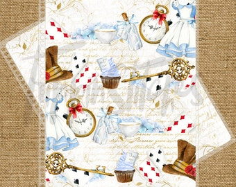 Alice in Wonderland Themed Planner Cover for Erin Condren, Plum Paper Planner or Happy Planner