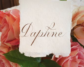 Traditional Copperplate Calligraphy Handwritten Vintage Style Place Cards