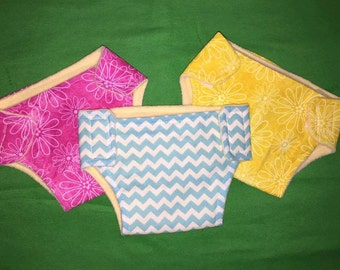 5pk cloth diapers baby doll baby alive and more - FREE WIPES