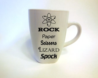 Rock Paper Scissors Lizard Spock DECAL ONLY