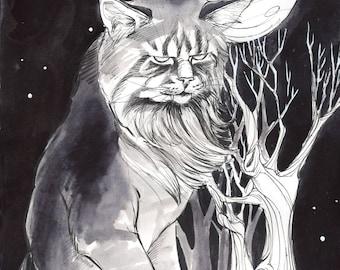 Yule Cat (Jólaköttur) Fine Art Print