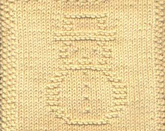Snowman Knit Dishcloth Pattern Only *PDF Digital Download*