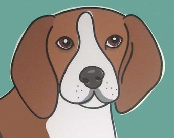 Determined - a Beagle in the Dog Series Art Print