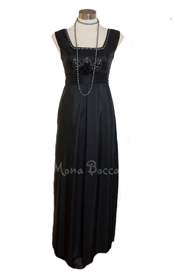 Edwardian Evening Gowns | Victorian Evening Dresses Edwardian evening dress handmade in England Lady Mary Crawley Downton Abbey styled $152.00 AT vintagedancer.com