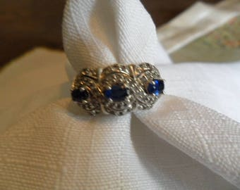 Vintage Kyanite Sterling Silver Ring Size 7