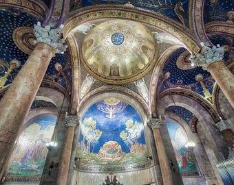 Jerusalem Old City, Israel Photography, Church Photography, Old City, Jerusalem Art, Holy City, Vivid Colors, Fine Art Photography