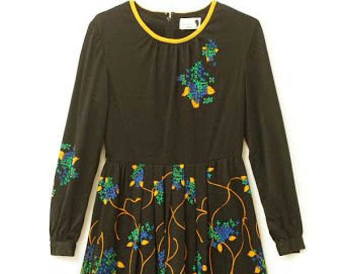 ROUND COLLAR DRESS  with long sleeve