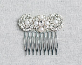 Bridal Hair Comb Vintage, Crystal Bridal Hairpiece, Art Deco Bridal Hair Accessory, Bridal Hair Clip