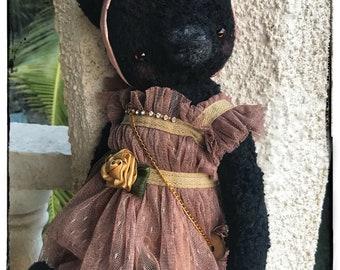 16 inch Artist Handmade Viscose Teddy Bear Bianca by Sasha Pokrass