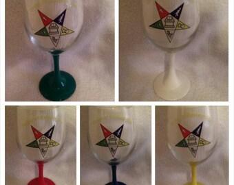 Order of The Eastern Star logo glassware