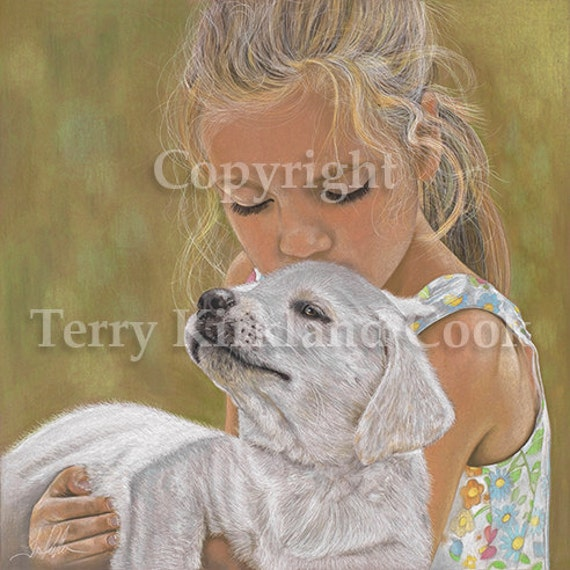 The Puppy ~ Fine Art Giclee Print of an Original Copyrighted Painting by Terry Kirkland Cook