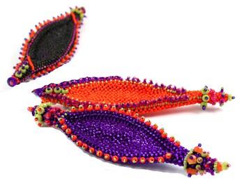 Masai Shields Brooch Kit Orange/Chartreuse/Cobalt