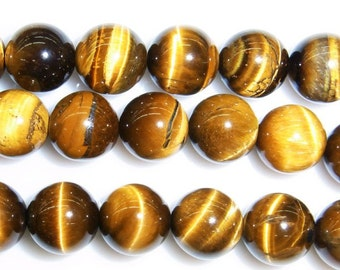 6mm Round Tiger Eye Beads Natural Semiprecious Gemstone Bead String Beading 15''L Jewelry Supply Wholesale Beads