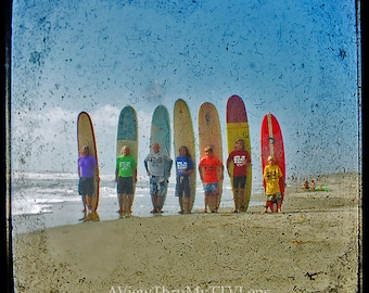 INSTANT DOWNLOAD of Long Board Line Up. Surfer Photography,ttv photography