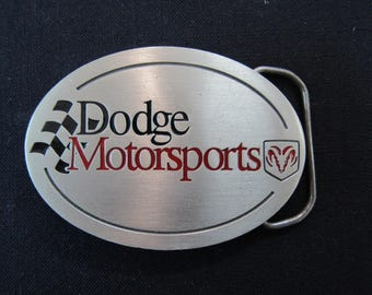 Vintage  Dodge Motorsports Belt Buckle - Dodge Motorsports Pure Pewter Belt Buckle - Great American