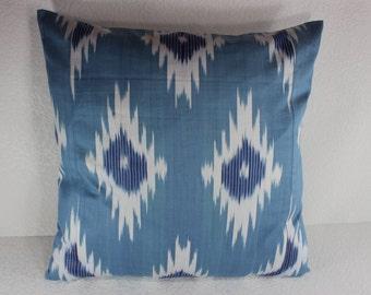 Cotton Ikat Pillow, Ikat Pillow Cover,  C131, Ikat throw pillows, Designer pillows, Decorative pillows, Accent pillows
