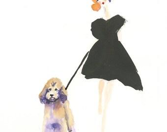 Poodle dog Art, Poodle Art Print, Poodle, Dog art, watercolor poodle, watercolor dog,