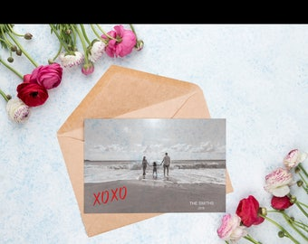 Valentine's Photo Card, Photo Card, Personalized Card, Greeting Card, Love Card, Digital Download