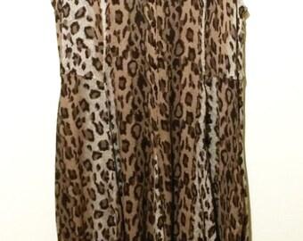 Lightweight Animal Print Maxi Dress//Size S