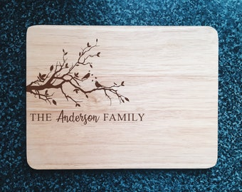Personalised Name Cutting Board, Custom Chopping Board, Personalised Gift, Wood Cutting Board, Housewarming Gift, Laser-Engraved