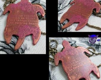 Dark Tower Inspired: Copper Turtle