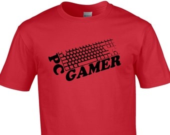 Mens T-shirt PC gamer - which side of the argument are you?