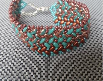 The Texas superduo beaded bracelet