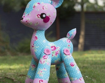 Darla the Deer Melly & Me Pattern - this is not a finished product - this is a pattern to sew a stuffed toy or decoration