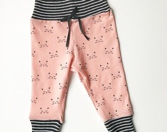 sleepy kitty leggings | cat joggers | newborn leggings | baby leggings | toddler leggings | trendy baby |