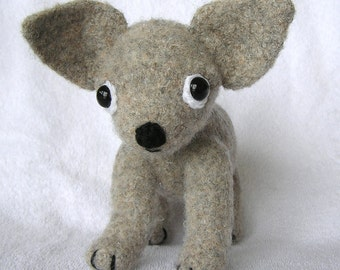 Pdf Crochet Pattern CHIHUAHUA PUP FELTED (English only)
