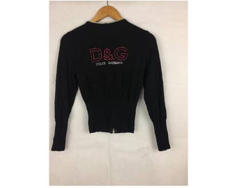 DOLCE And Gabban Long Sleeve Cardigans Small Size With Diamond Logo Made in Italy