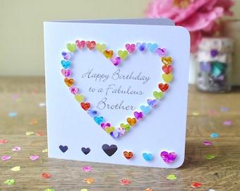 Brother birthday card birthday card for brother brilliant brother birthday card handmade personalised birthday card for brother personalized happy birthday card brother m4hsunfo