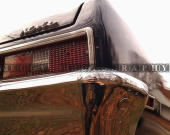 1970's Chevy Nova Classic Car Photograph Image Artistic Angle of Rear Section of the Car~ 1 Digital Download Photo