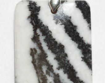 Zebra Agate Rectangular Pendant